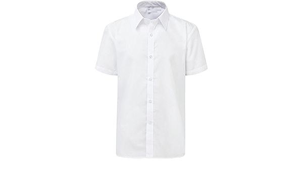 Camisa de Manga Corta para niños, Uniforme, Color Blanco y ...