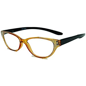 In Style Eyes Rubber Neckin Bling Reading Glasses Neck Hanging Flexible Frame yellow 1.50