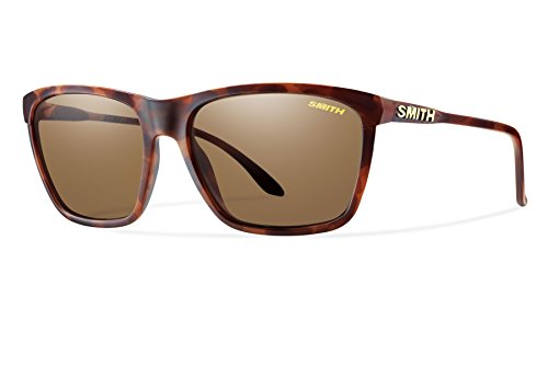 Smith Optics Smith Delano Sunglasses, Matte Tortoise Frame, Carbonic Polarized Brown Lens, - Smith Sunglasses