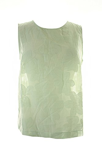 max-mara-green-sleeveless-jacquard-top-m