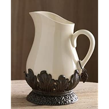 126 Ounce Pitcher w/Metal Base-Cream - GG Collection
