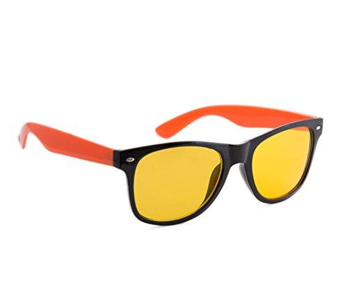 écaille lentilles soleil 4sold Orange Night nuit femmes füllend driving jaune lunettes unisexe Black hommes de soleil Correction uV400 marron protection de lunettes entièrement PqIvqCrw