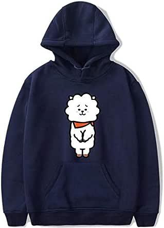 BTS Hoodie cartoon character Long Sleeve Hoodies Sweatshirt