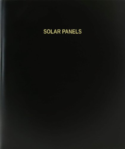 BookFactory® Solar Panels Log Book / Journal / Logbook - 120 Page, 8.5