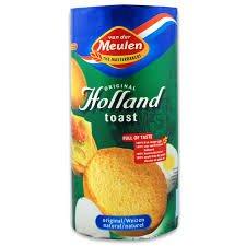 Van Der Meulen Original Holland Toast, Original Rusk, 3.5-Ounce Packages (Pack of 12) by Van Der Meulen