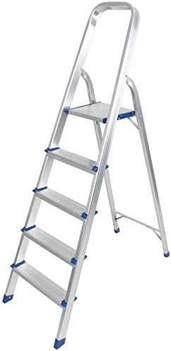 Lumini - Escalera de Aluminio para Escalera (Antideslizante, Ligera, Plegable, con Plataforma de Escalera): Amazon.es: Electrónica