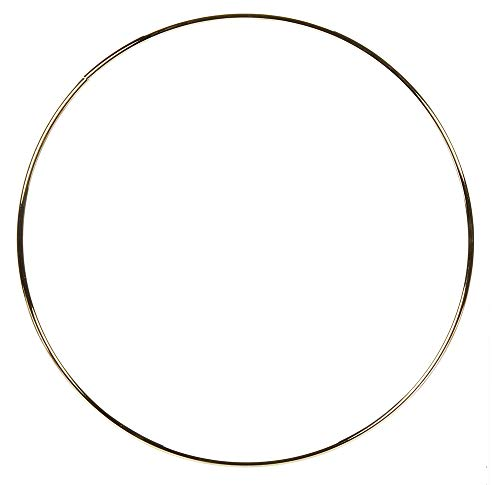 Darice Metal Ring-Gold-19 inches (Large Hoop Gold)