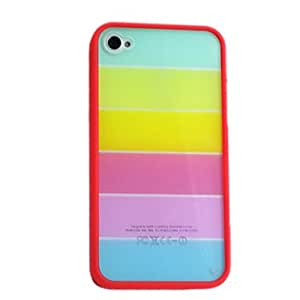 LCJ iPhone 4/4S compatible Mixed Color Back Cover , Black