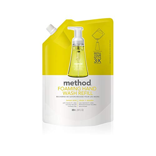 (Method Naturally Derived Foaming Hand Wash Refill, Lemon Mint, 28 Ounce)