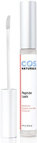 COS Naturals Eyelash Growth Serum PEPTIDE LASH Natural Regrowth Plant Stem Cells Enhancing Treatment For Longer Fuller Eyelashes Thicker Eyebrows With Pentapeptide-17 Panthenol 5ml 0.16 Oz