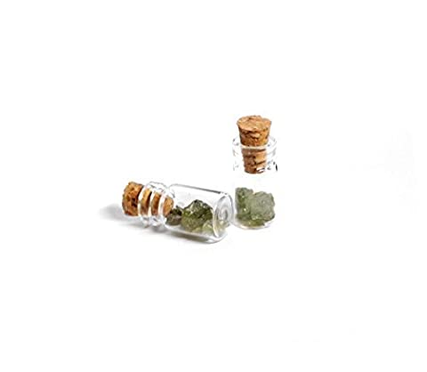 Tiny Green Tourmaline Crystals in Corked Vial | 1 piece by Geo Evolution (Geo Crystals)
