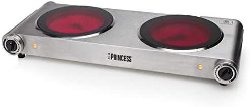 Princess Placa vitrocerámica 303008 Cocina eléctrica Doble ...