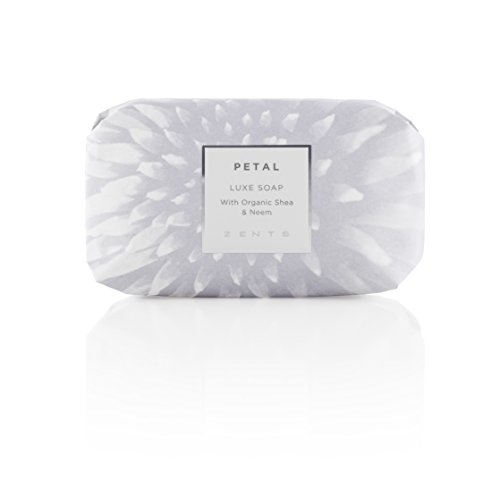 Zents Luxe Soap, Petal, With Organic Shea Butter and Neem Oil, 5.7 oz / 163 g (Petal Zents)