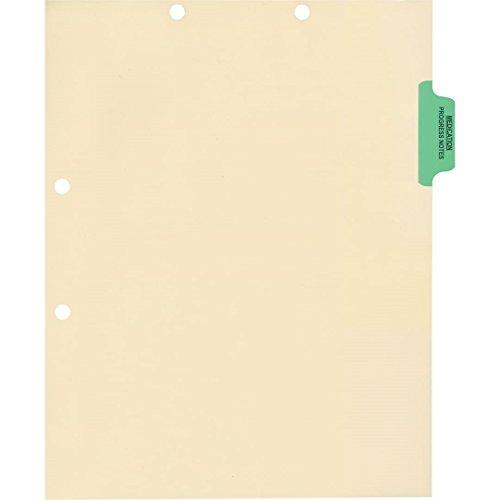 Medical Arts Press Match Colored Side Tab Chart Dividers- Medication/Progress Notes, Position 2 (100/Pkg) ()