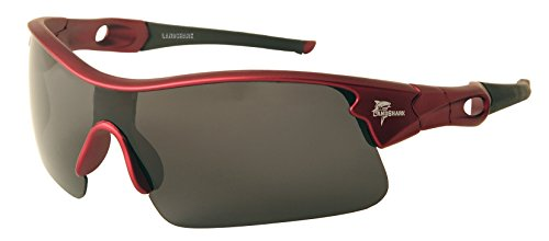 Margaritaville Landshark Sport Polarized Wrap Sunglasses, Red, 59 mm (Sunglass Shop-com)