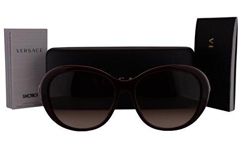 Versace VE4324BA Sunglasses Opal Bordeaux w/Brown Gradient Lens 10913 VE 4324-B-A VE 4324BA - 4275 Ve Versace