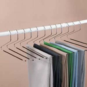 Set of Jobar Slacks Hangers Open Ended pants Easy Slide Organizers Includes A FSM Over The Door Hook Rail