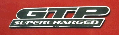 (GTP Badge Overlay Decal - 1997-2002 Grand Prix GTP - (Color: Gloss Black))