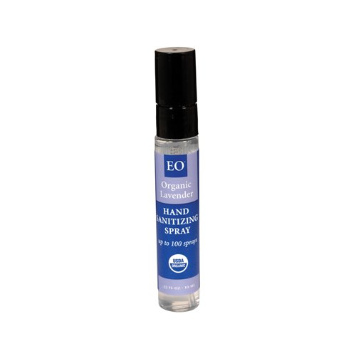 - EO Products Organic Lavender Hand Sanitizing Spray, 0.33 Ounce - 12 per case.