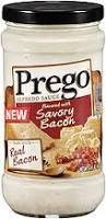 Prego Alfredo Sauce with Real Bacon, 14.5 Oz., (Pack of 3)