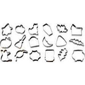 Wilton Halloween Metal Cookie 18-Piece Cutter Set- Discontinued By Manufacturer -