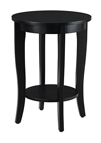 Convenience Concepts American Heritage Round Table, Black