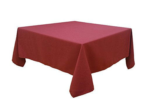 HIGHFLY Linen Square Tablecloth 52 X 52 Inch Waterproof Wine Tablecloth for Home Kitchen Dining Room