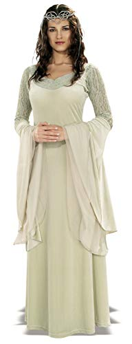 Rubie's Lord of The Rings Deluxe Queen Arwen Dress and Tiara, Green, Standard -