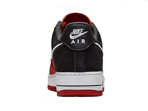 Nike Men's Air Force 1 LV8 Mystic Red/White/Black Leather Casual Shoes 13 M US