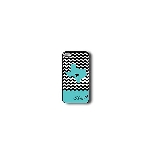 Krezy Case Monogram iPhone 6 PLUS Case, Colorful chevron with texas map Pattern Monogram iPhone 6 PLUS Case, Monogram...