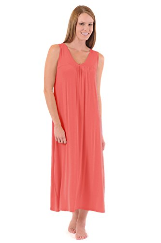 mlg1640-medium-coral-bamboodreams-molly-sleeveless-v-neck-long-gown
