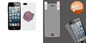 Combo pack Cellet Proguard with Paisley for Apple iPhone 5 And ASMYNA Anti-grease LCD Screen Protector/Clear for APPLE iPhone 5