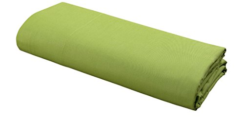 (DELANNA Flat Sheet 100% Cotton Percale Weave Top Sheet Crisp, Comfortable, Breathable, Soft and Durable (Twin, Lime))