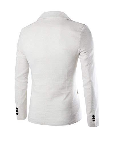 Blazer Veste Suit Slim Outwear Retro 1 Homme Décontractée Blanc Élégant Loisirs Automne Costume Vestes Fit Bouton HrwBf5Hxq
