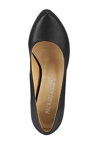 Dini mujer para Zapatos Patrizia de sintético de vestir Peeptoe negro negro material wqqFzd7a