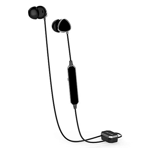 Active Noise Cancelling Earbuds Earphones Bluetooth Wireless Headphones with Microphone,Pure Sound and Powerful Bass for iPhone iPad iPod Samsung Smartphones Nokia HTC Mp3 Players etc Include Carrying