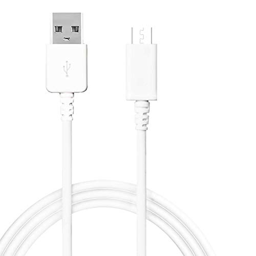 Micro USB Cable 10ft,Android Charging Cord,High Speed Micro USB Charger Cable Compatible with Samsung Galaxy S7 Edge/S6 Edge/S7/S6/S5,Note 5/4,Android Phone,Honor 6X/LG G4/Echo Dot(2nd) White