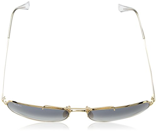 Ray-Ban - RB3560 (The Colonel) Unisex - Gold Frame-Clear Gradient Blue 61mm Lenses