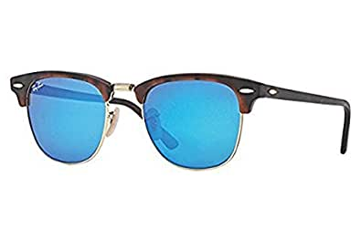 Amazon.com: New Ray Ban Clubmaster Flash RB3016 114517