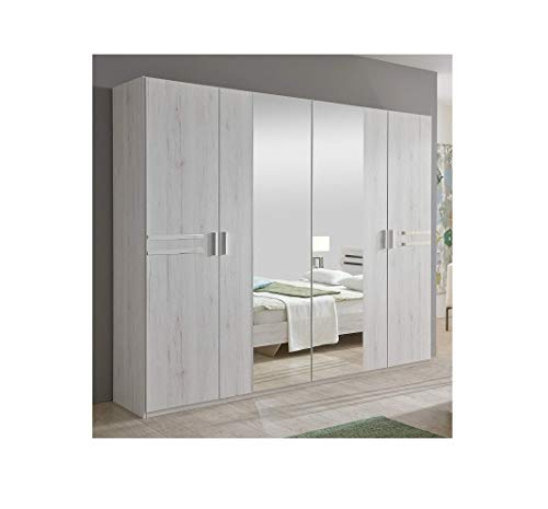 Magnificent New Susan German White Oak Effect 4 Door Mirror Wardrobe Bedroom Furniture Mirrored Storage Hanging Rail Made In Germany Full Assembly Service Download Free Architecture Designs Meptaeticmadebymaigaardcom