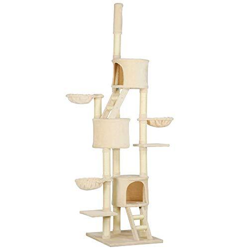 - Yaheetech Huge Cat Tree Furniture Beige Color(103 in. High)