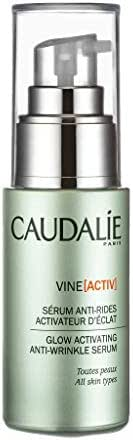 Caudalie Vine[activ] Glow Activating Anti-Wrinkle Serum. Concentrated with Antioxidant Polyphenols and Hyaluronic Acid to Protect Against Aging on Face and Neck, Morning and Night (1.01 oz / 30 mL)