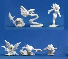 Reaper 77196: Familiars 2 (6) Dark Heaven Bones Plastic - Familiar Pack