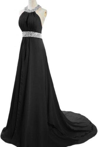 Emma Y Exquisite Round Neckline Evening Prom Dresses With Sequins- US Size 18W-Black