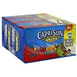Capri Sun Juice Drink Blend, Fruit Punch, Value Pack 180 fz (Pack of 1)