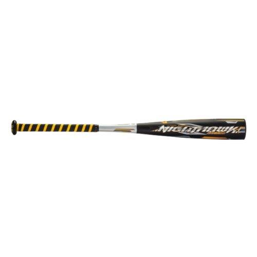 """Mizuno Nighthawk Baseball Bat, 30""""/20 oz, Black/Gold"""
