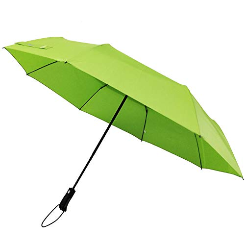 54inch large double canopy and Portable Travel Automatic Open Close Folding and Compact golf Umbrella for Unisex (Green Umbrella Lime)