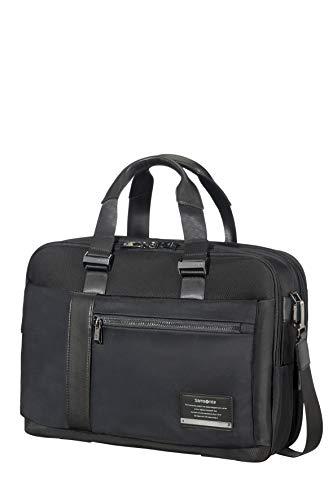 (Samsonite Openroad Bailhandle Expandable 39.6cm/15.6inch Jet Black Laptop Briefcase)