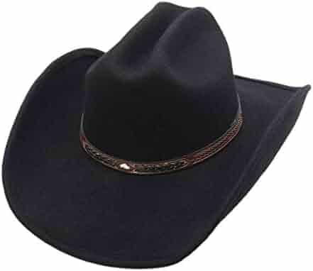 d18d5c57e2630c Men's Wool Cowboy Hat Cody Shapeable Western Felt Hats by Silver Canyon