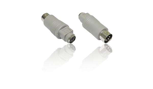 CDL Micro 6 Pines Mini DIN PS//2 Hembra a 5 Pines DIN AT Macho Adaptador de Teclado convertidor